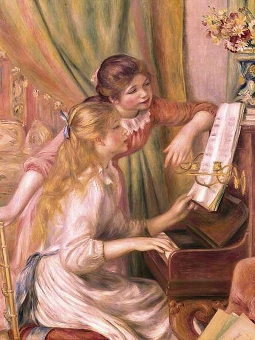 "Огюст Ренуар. ""Девушки за пианино"""