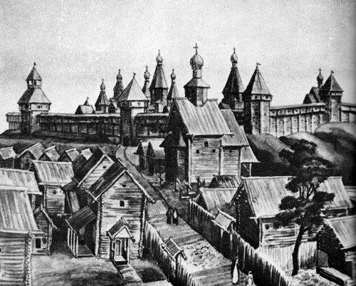 Московский Кремль, 1156. Реконструкция Г.В. Борисевича, Н.С. Владимирской, А.Г. Векслера