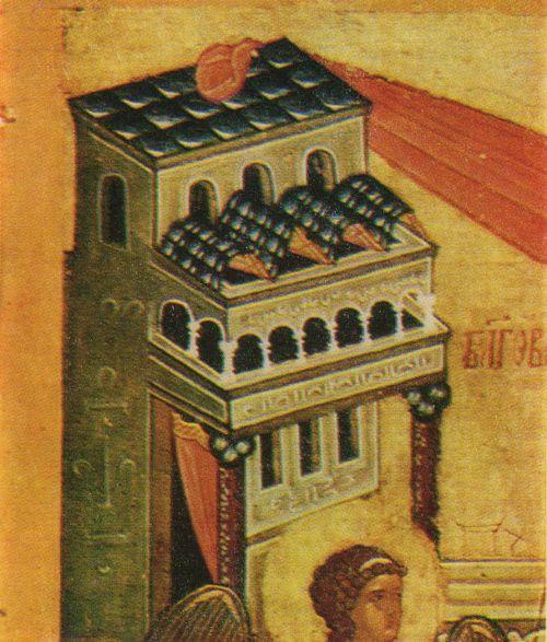 «Благовещение». Фрагмент иконы. XV в.