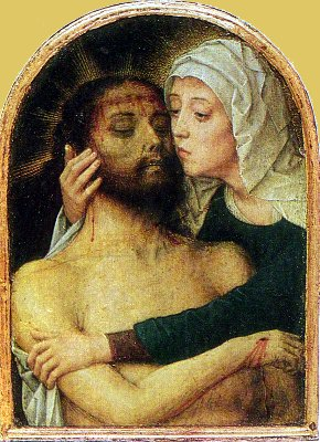 Мария, обнимающая мертвого Христа