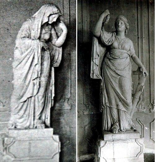 Слева: «Печаль», справа: «Слава»