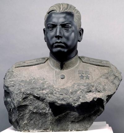 Портрет дважды Героя Советского Союза летчика М.Г. Гареева