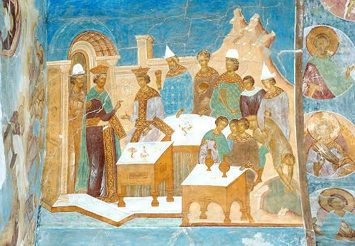 Роспись южного свода Ферапонтова монастыря