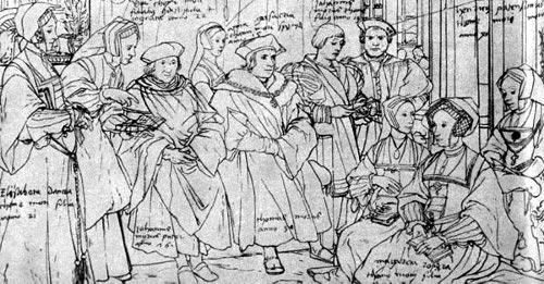 Набросок к картине «Групповой портрет семьи Томаса Мора»