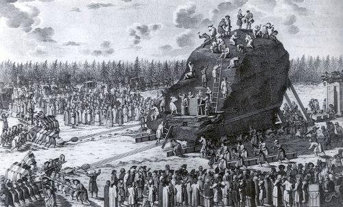 Якоб ван де Шлей «Вид Гром-камня во время перевозки»