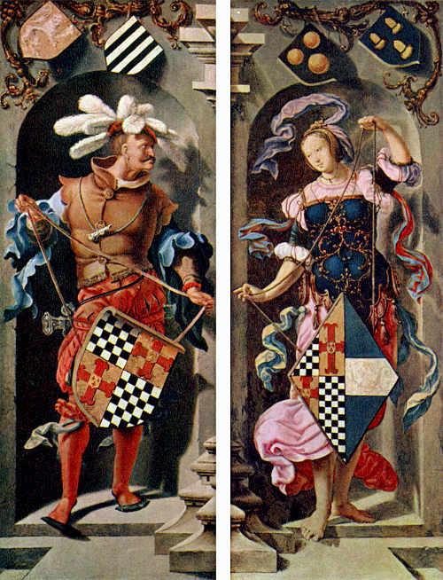Боковые створки триптиха