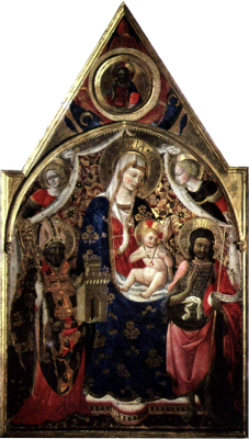Мадонна с младенцем, святыми и ангелами