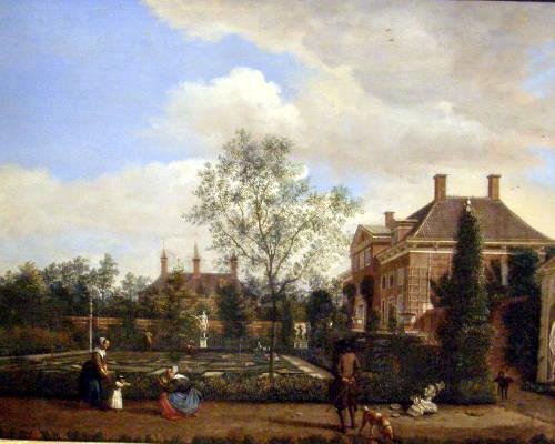 «Голландский садик». Ян ван дер Хейден, XVII век