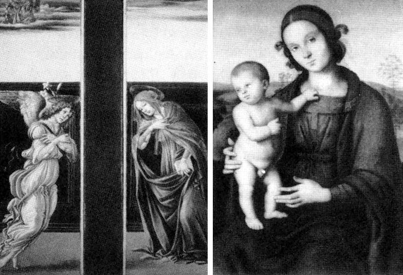 Иллюстрации из путеводителя по Государственному музею изобразительных искусств им. А.С. Пушкина, изданного в 1987 году