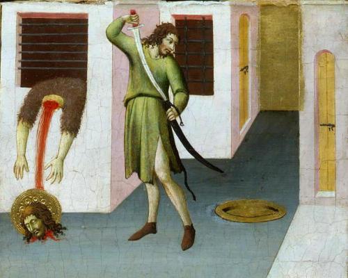 Сано ди Пьетро. Усекновение главы Иоанна Предтечи