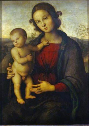 П. Перуджино. Мадонна с младенцем
