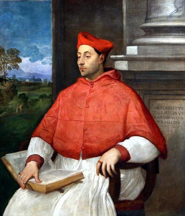 С. дель Пьомбо. Портрет кардинала Паллавичини