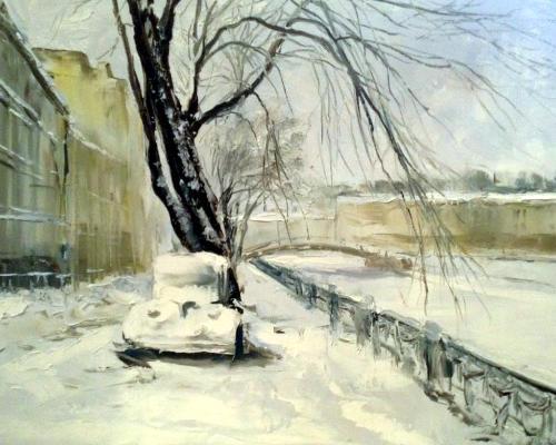 «Зима. Набережная», Надежда Винниченко