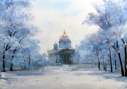 «Исаакиевский Собор. Зима», Надежда Винниченко
