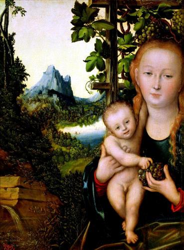 Л. Кранах. «Мадонна с младенцем»
